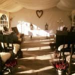 Bryllupstelt på knettsetra