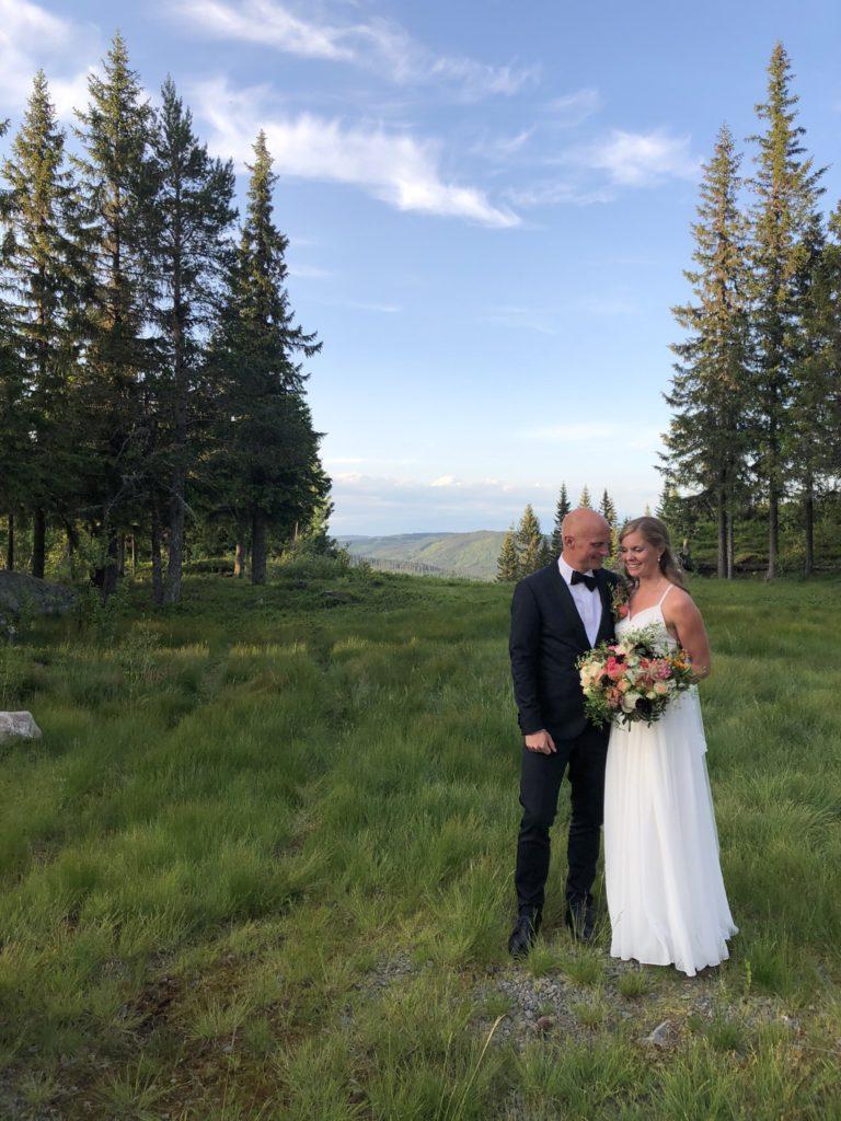 Bryllup Brudepar Utsikt Knettsetra